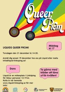 Liquids Queer Prom - affisch
